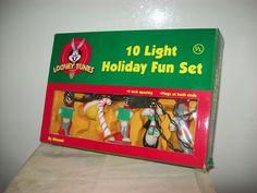 Minami Looney Tunes 10 Light Holiday Fun Set Works Extra Bulbs/Fuses 1997 #Minami