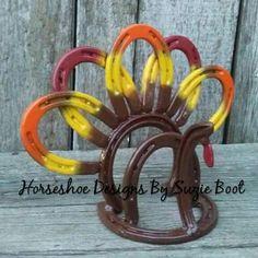 Gobble Gobble  Horseshoe Turkey Napkin Holder  https://www.facebook.com/horseshoedesignssb/