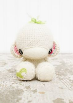 Monkey baby - love the felt and button accents - great inspiration