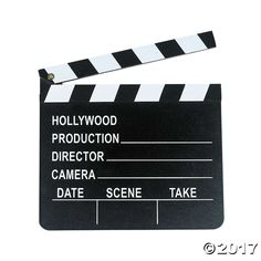 """Make your home movies more fun using this Wooden Director's Clapboard before each """"take""""!  Use this clapboard to play a director for school ..."""