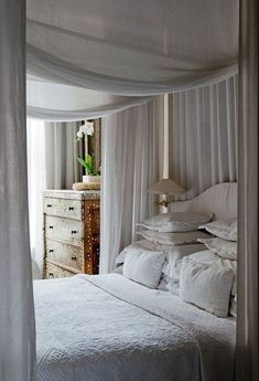 White Bedroom with canopy bed House Design, Room, Beautiful Bedrooms, Home, Dreamy Bedrooms, Bedroom Inspirations, Bed, Bedroom Decor, Interior Design