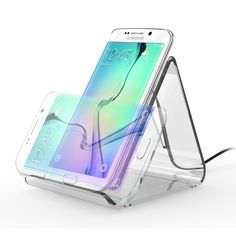 Wireless Charger, MaxTronic 3 Coils Wireless Qi Charging Pad Charger Stand for Samsung Galaxy S7 / S7 Edge / S6 Edge Plus / Note 5, Lumia 920, LG G4 / G3, Droid Turbo and All Qi-enabled Devices: Amazon.co.uk: Electronics