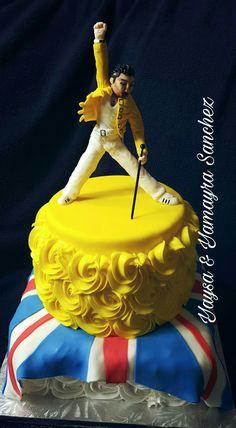 Freddy Mercury  cake Queen Birthday, 13th Birthday, Birthday Cakes, Birthday Parties, Freddie Mercury Birthday, Queen Rock Band, Sweet 16 Cakes, Party Queen, Awesome Cakes