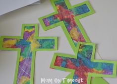Stained Glass Cross {Easter Craft} - Mom On Timeout
