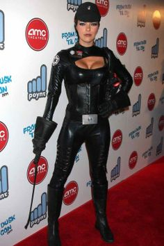Black Leather Catsuit worn By Adrianne curry. Buy your Catsuit for dance from DCUK Dance Clothes. Cosplay Outfits, Cosplay Girls, Female Superheroes And Villains, Superhero Costumes Female, Adrianne Curry, Leather Catsuit, Bodysuit Costume, Star Wars Girls, Super Hero Costumes