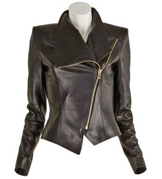 Alexandre Vauthier-Zipped Leather Jacket