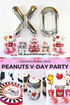Celebrate Valentine's Day with Snoopy and the whole Peanuts gang! @soireeevents created a fun Peanuts Valentine party everyone will love! Check out this Valentine's Day party idea, filled with Valentine DIYs and a Valentine recipe on our blog.