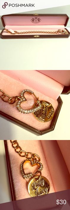 {Juicy Couture}Lady Luck Horseshoe Bracelet w. Box  Juicy Couture  Lady Luck Horseshoe Bracelet. Like new condition. Box included! Juicy Couture Jewelry Bracelets