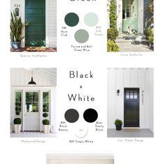 Best of Blog: Paint Guides White Exterior Paint, Exterior Colors, Kitchen Color Trends, Greige Paint, Spanish Modern, Unique Tile, Painted Front Doors, Modern Farmhouse Style, The Ranch