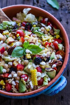 Easy Summer Herb and Chickpea Chopped Salad with Goat Cheese   halfbakedharvest.com