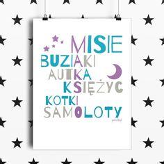 plakaty personalizowane z napisami dla dzieci P009