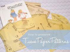 How to stabilize tissue paper sewing patterns with fusible interfacing.