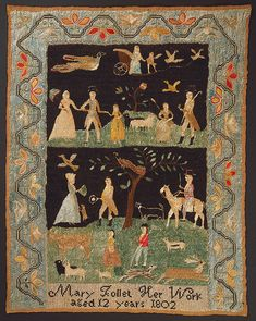 Sampler (USA), 1802 | Objects | Collection of Cooper Hewitt, Smithsonian Design Museum