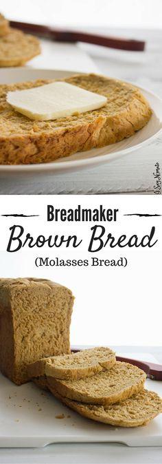 Molasses Bread, Molasses Recipes, Bun Dough Recipe, Brown Bread Recipe, Homemade Sandwich Bread, Bread Maker Recipes, Bread Shop, Zuchinni Recipes, Bread Bun