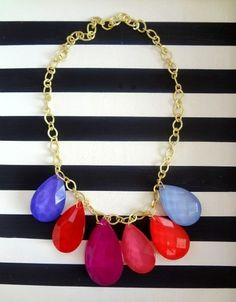 Add a statement necklace to a basic look