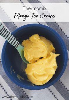 Thermomix 2 Ingredient Mango Ice Cream