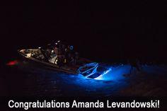 LIFEFORM 9 underwater LED boat lights in action #tigeboat