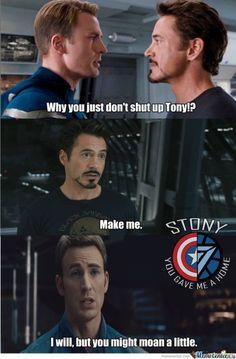 #Stony #IronMan #TonyStark #CaptainAmerica #SteveRogers