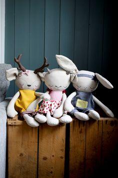 Handmade Cloth Dolls by Peanut And Elliott Doll Sewing Patterns, Sewing Dolls, Baby Toys, Kids Toys, Raggy Dolls, Fox Toys, Friend Crafts, Fabric Animals, Fabric Toys