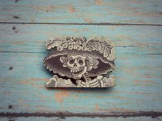 Catrina Day of the Dead Brooch//Wood by AbbiesAnchor on Etsy