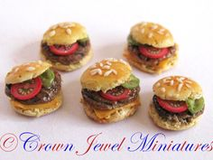 Hamburgers & cheeseburgers by IGMA Artisan Robin Brady-Boxwell