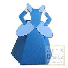 Porta Tubete Cinderela.  Projeto de corte no formato GSD, à venda nos sites: http://www.artscrafts.com.br/ e http://www.cortecrie.com.br/