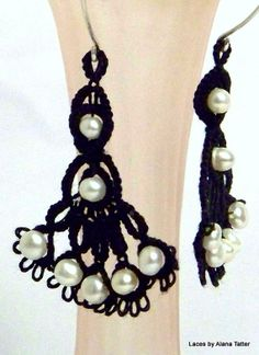 Spanish Dancing Ladies  Tatted Lace Earring by LacesByAlanaTatter, $35.00