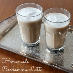 homemade latte with cardamom no special tools required