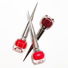 Christian Louboutin OFF! Pin for Later: Christian Louboutin Is Launching 3 New Stunning Red Nail Polishes Louboutin Nail Polish, Red Louboutin, Christian Louboutin Shoes, Red Nail Polish, Nail Polishes, Cosmetics News, Shiny Nails, Beauty Trends, Color