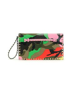 Psychedelic Camo Rockstud Flap Clutch Bag by Valentino at Bergdorf Goodman. $2495