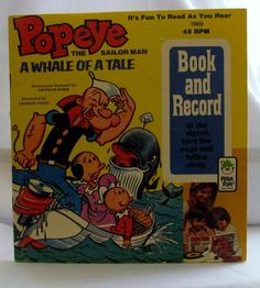 1969 Popeye Book with 45 RPM Record by AnfinsenArt on Etsy ** a girl down the street from me had books with records, just like this...I used to think she was the luckiest girl ever and remember one about the Big Rock Candy Mountain.  Funny.