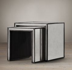 family room end table Strand Mirrored Nesting Side Tables $845