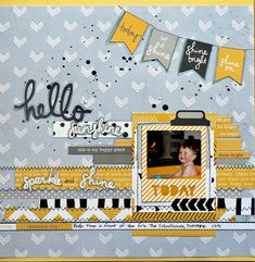 """<p>Hi everyone, it's Pam here with a layout featuring the fabulous 'Shine Bright' collection from Kaisercraft. This is a modern collection with a grey, yellow, black and white colour palette and that colour combination is a winner with me! It has a graphic, slightly retro feel to it I think. <a href="""" http://www.merlyimpressions.co.uk/blog/project-portfolio/scrapbooking/shine-bright-with-extra-dimension/ """"> …click to read more</a></p>"""