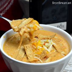 Crock Pot Low-Carb Tortilla Soup Recipe is the best keto soup recipe. I am obsessed with chicken tortilla soup from Max and Erma's. This crock pot low-carb chicken tortilla soup recipe is creamy and hearty and will not leave you craving. Slow Cooker Creamy Chicken, Easy Crockpot Chicken, Crockpot Recipes, Chicken Recipes, Chicken Soups, Roasted Chicken, Turkey Recipes, Pasta Recipes, Dinner Recipes