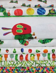 Andover Fabrics, The Very Hungry Caterpillar in FAT QUARTERS 8 Total