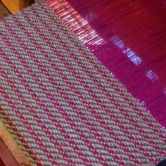 On the loom with a mixed twill. All cotton, 4 shaft. 1,2,3,4,(123)(234)(134)(124)