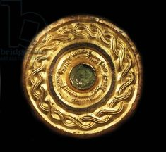 Credit: Escutcheon, Gilt copper-alloy 600-700AD found at Gilton, Kent, England (Anglo-Saxon) / Universal History Archive/UIG / The Bridgeman Art Library