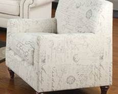 Lowest Price Online On All Coaster Norah Accent Arm Chair In White Script    502513