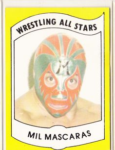For Sale: 1982 Wrestling All Stars Series A Trading Card of Mil Mascaras Price: $5.99