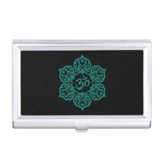Teal Blue Lotus Flower Om on Black Business Card Holder   yoga results, yoga practices, yoga postures #yogahoy #good #practice, 4th of july party Black Business Card, Business Card Case, Business Card Holders, Business Card Design, Business Cards, Yoga Facts, 30 Minute Yoga, Fat Burning Yoga, Yoga Workout Clothes