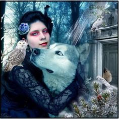 """""""Witch and white wolf."""" by reluna on Polyvore"""