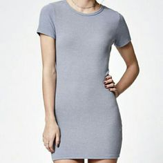 """Brandy Melville blue ribbed t shirt dress Brandy Melville John Galt crafts a casual and fashionable look with the Ribbed Short Sleeve T-Shirt Dress. Adorned in a light blue wash, this t-shirt dress has classic short sleeves, a soft ribbed fabrication, and crew neckline. Crew neckline Short sleeves Soft, ribbed fabric One size (fits size small) Model?s measurements: Height: 5'9.5"""" Bust: 34"""" Waist: 24"""" Hips: 34"""" 50% polyester, 37% cotton, 13% rayon Hand or machine wash Made in USA Brandy…"""