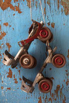 Old roller skates by Garry Gay