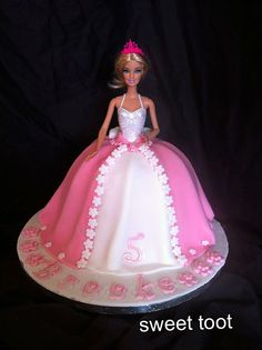 My First barbie doll dress cake!