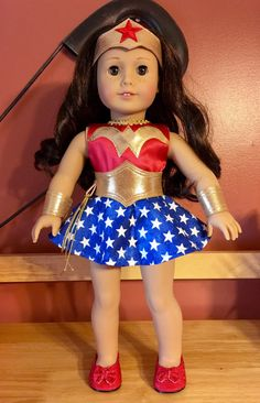 Wonder Woman costume for American girl or 18 doll by PerfectlyPams