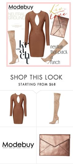 """Bandage Dresses"" by modebuy ❤ liked on Polyvore featuring Kendall + Kylie, Rebecca Minkoff, neutrals and BandageDresses"