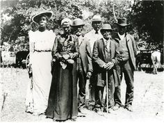 "Over two years after the Emancipation Proclamation, slaves in Galveston, Texas, United States, are finally informed of and granted their freedom. The anniversary is still officially celebrated in Texas and 13 other contiguous states as ""Juneteenth"".  This is a photo of a Juneteenth celebration in Austin, Texas, in 1900."