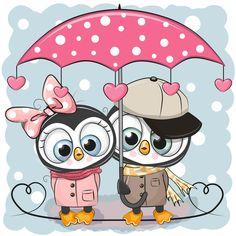 Скрапбукинг, рукоделие, Картинки с милыми животными, пингвины