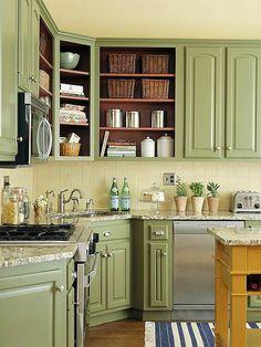 Amy Howard green kitchen