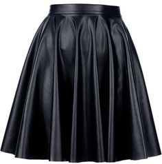 Pleated Leather Skirt... WANT